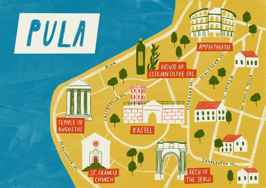 Pula Illustrated Map