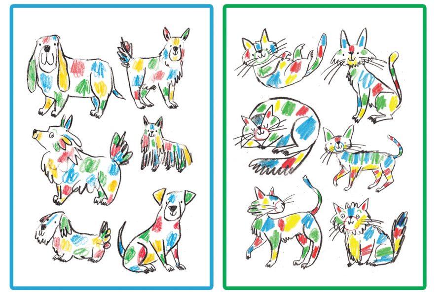 Rainbow cats and Dogs Adam Pryce