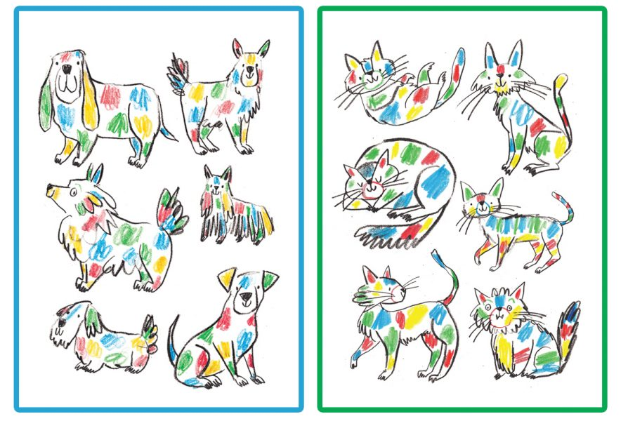 Rainbow cats and Dogs Adam Pryce