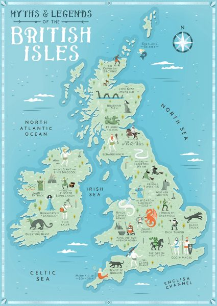 Myths and Legends of the British Isles map
