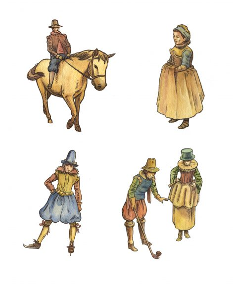 17th C Dutch figures