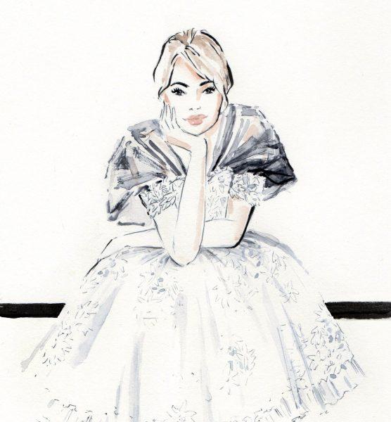 Chanel Couture 2020 fashion illustration