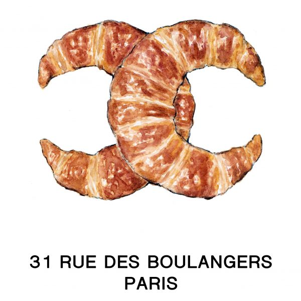 Chanel Croissants food and fashion illustration