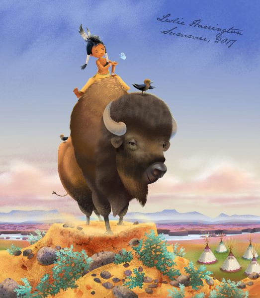 Character Design: A Boy and his Bison
