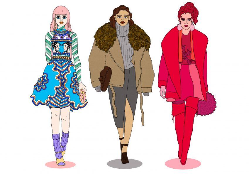 Catwalk Fashion Illustration