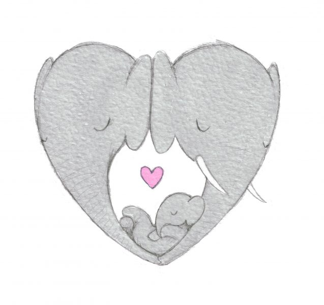 Elephant Love Sketch