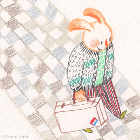 Main character from the picture book Rainbow Village
