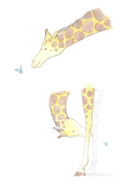 Giraffe & friend Sketch
