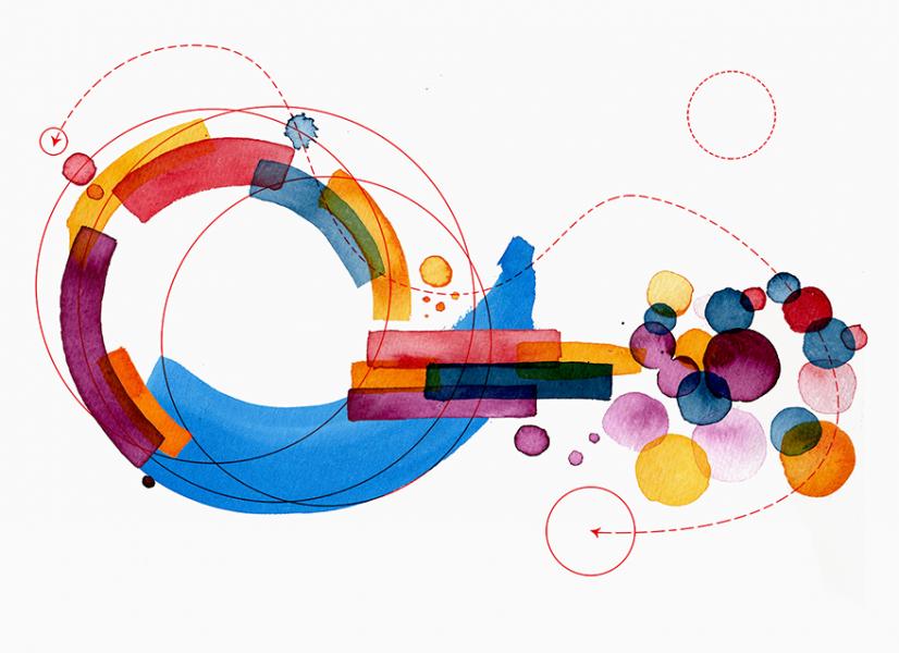 Googledorking // editorial illustration for Tactical Tech, info activism