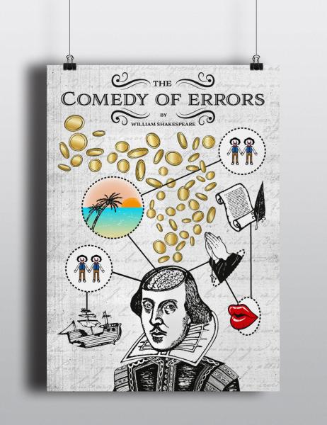 shakespeare - comedy of errors poster design