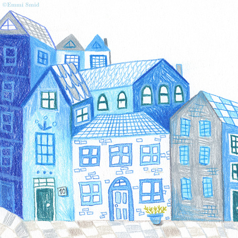 Scene from the picture book Rainbow Village