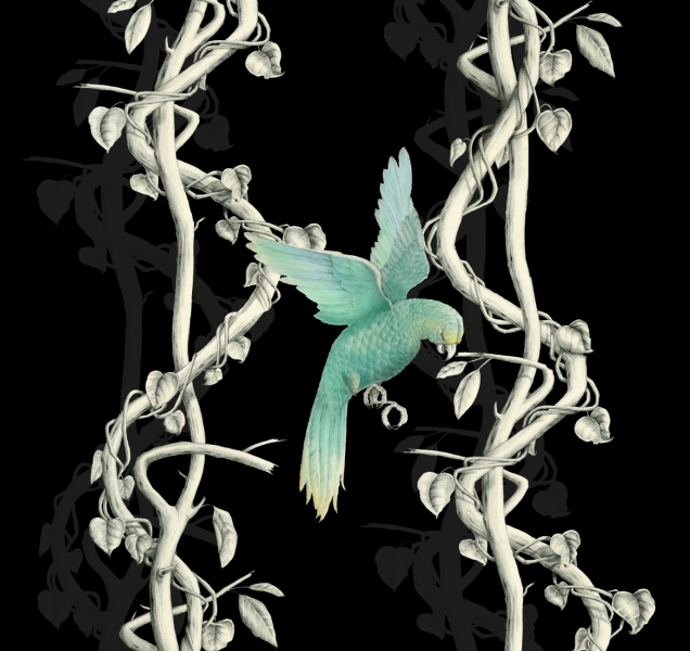 Bird and vines