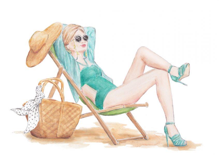 Beachwear fashion illustration