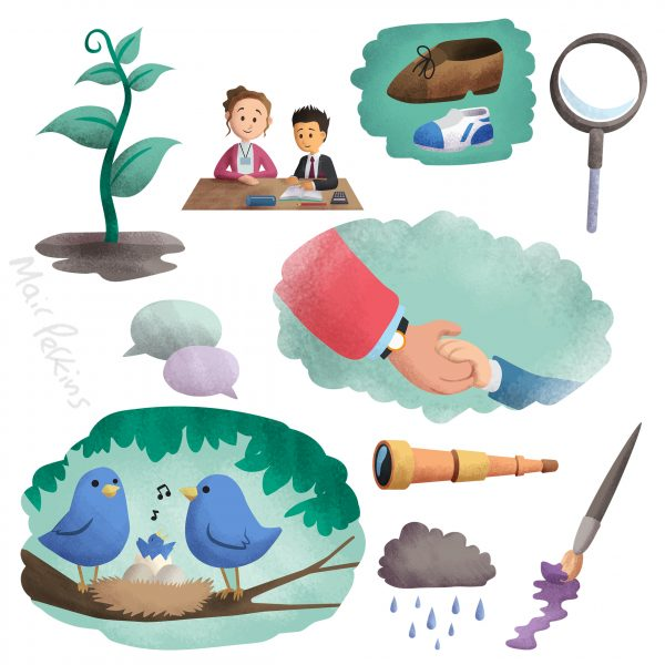 Anna Freud Mental Health booklet illustrations