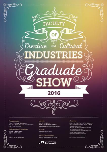 Graduate show poster