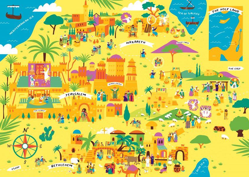 Advent-Sticker-Calendar-illustration-Melanie Chadwick