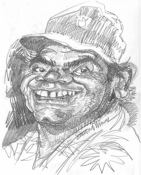 Caricature-Pencil-Sketch-of-Ernest-Borgnine