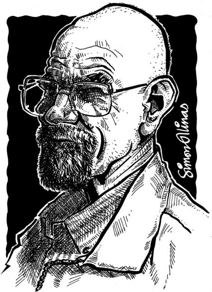 Caricature of Bryan Cranston as Walter White from Breaking Bad