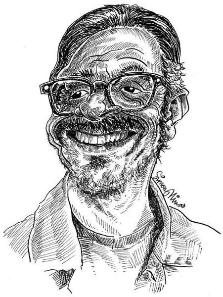 Caricature of Marc Maron