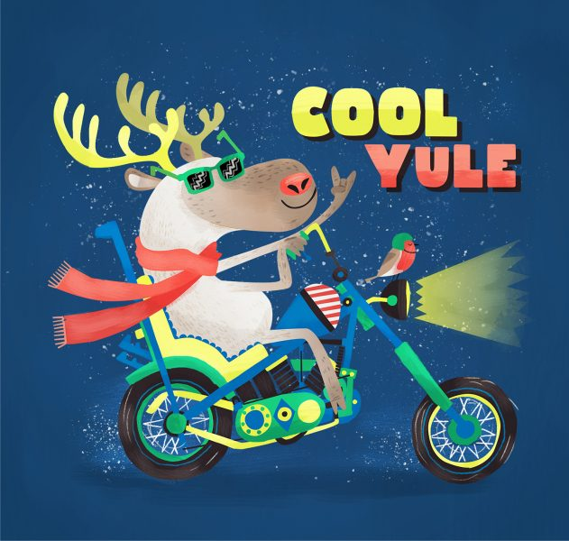 Chris Dickason Cool Yule Christmas Greetings Card