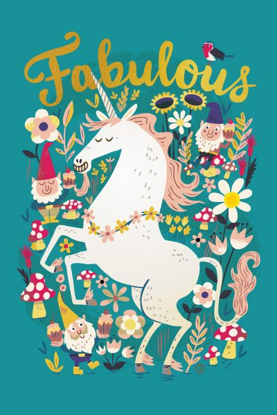 Chris Dickason Fabulous Unicorn Greetings Card
