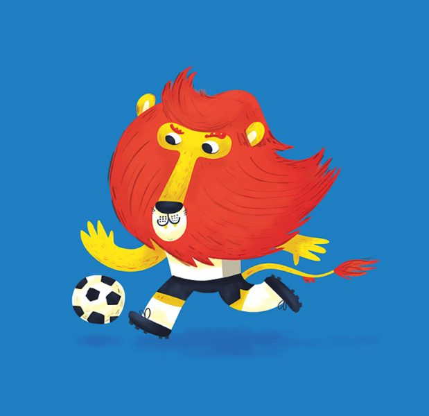 Chris Dickason Footbal Lion