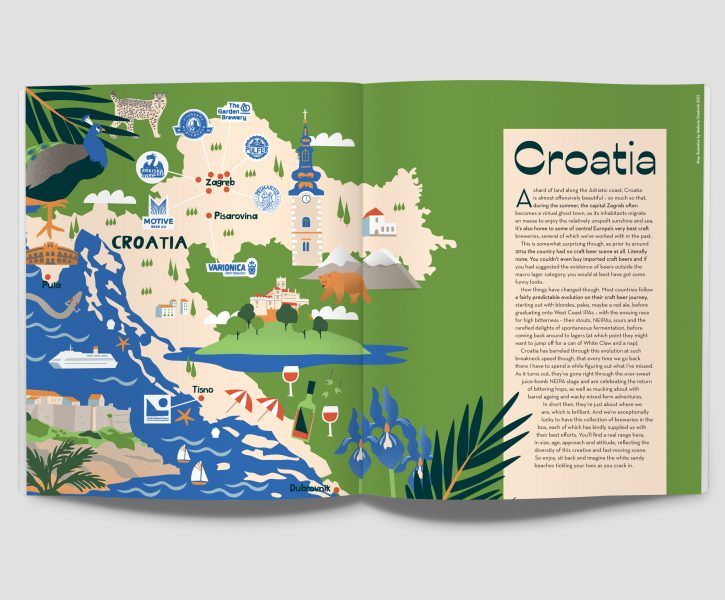 Illustrated Croatia Map Melanie Chadwick