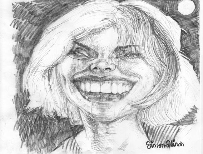 Caricature Pencil Sketch of Debbie-Harry