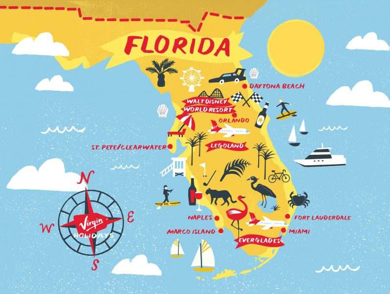 Florida Map VIRGIN