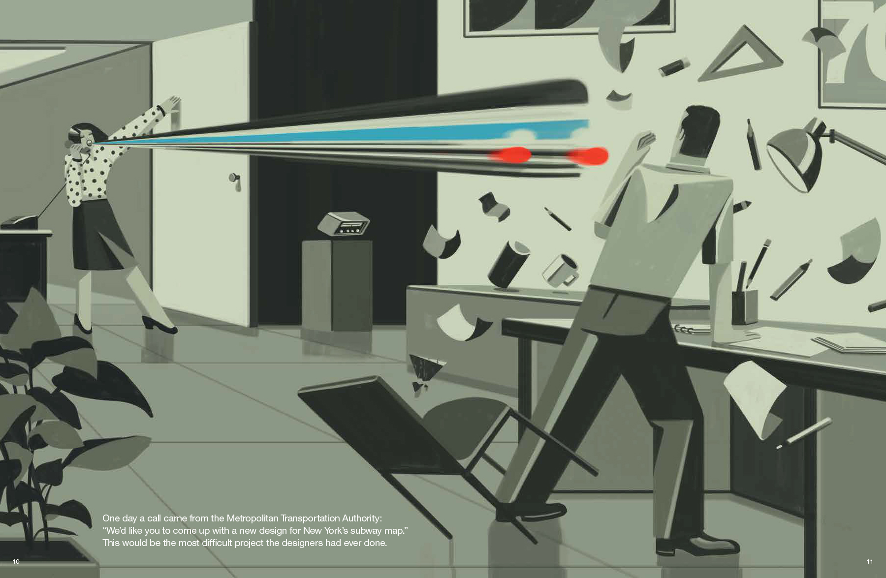 What Doy Calle The Thing That Has The Subway Map.Emiliano Ponzi The Aoi