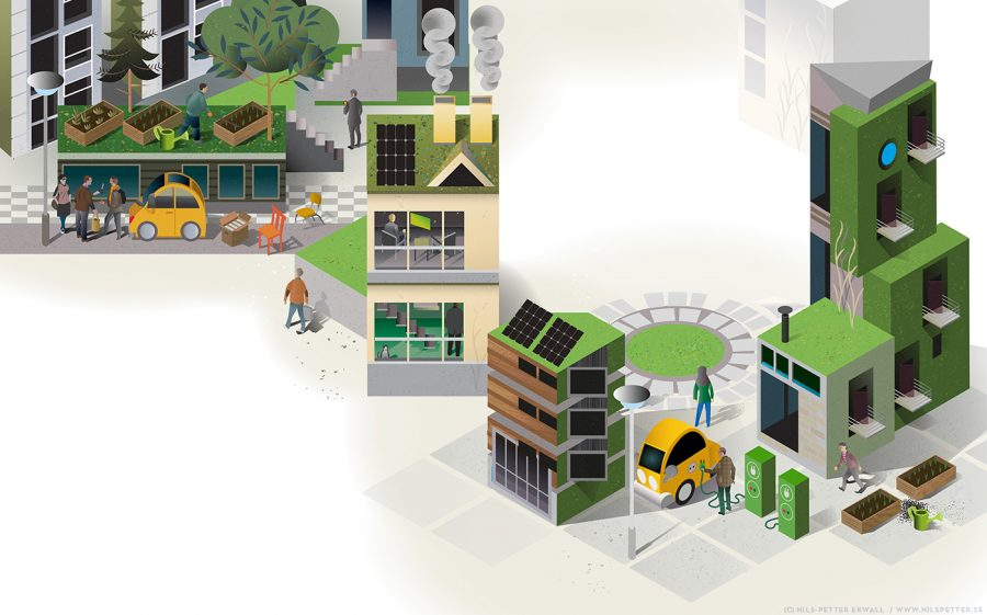 JM housing and residential - illustration for annual report