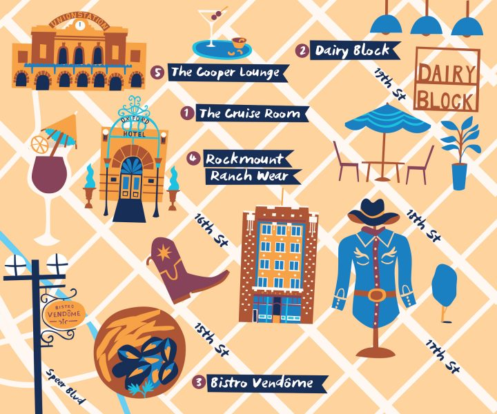 American Airlines illustrated map Melanie Chadwick
