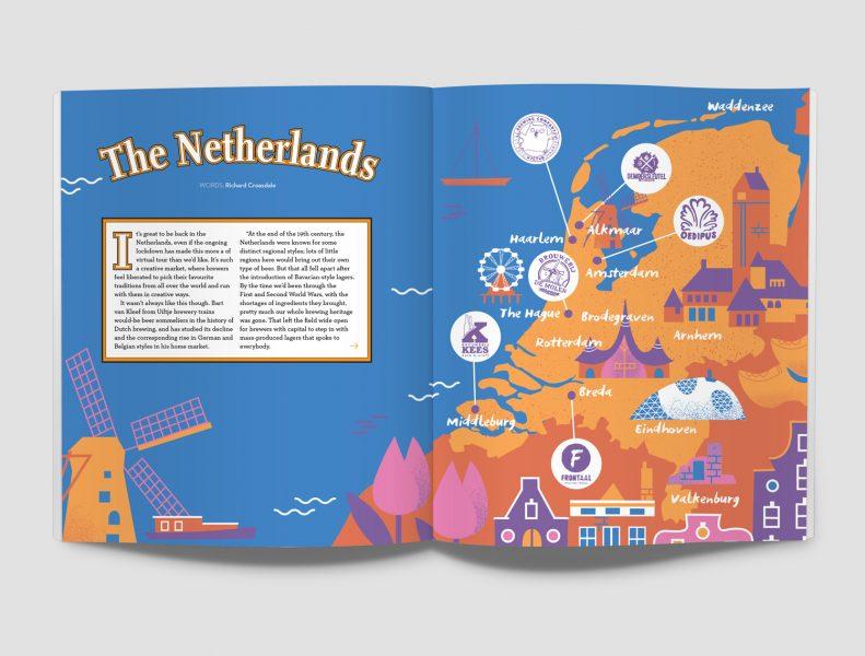 Illustrated Netherlands map Melanie Chadwick