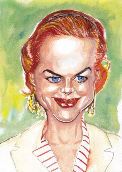 Caricature Painting of Nicole Kidman