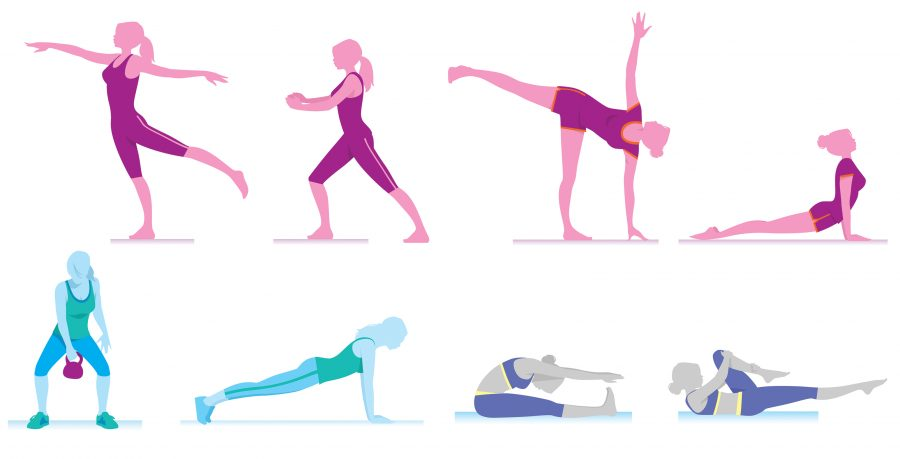 women exercise