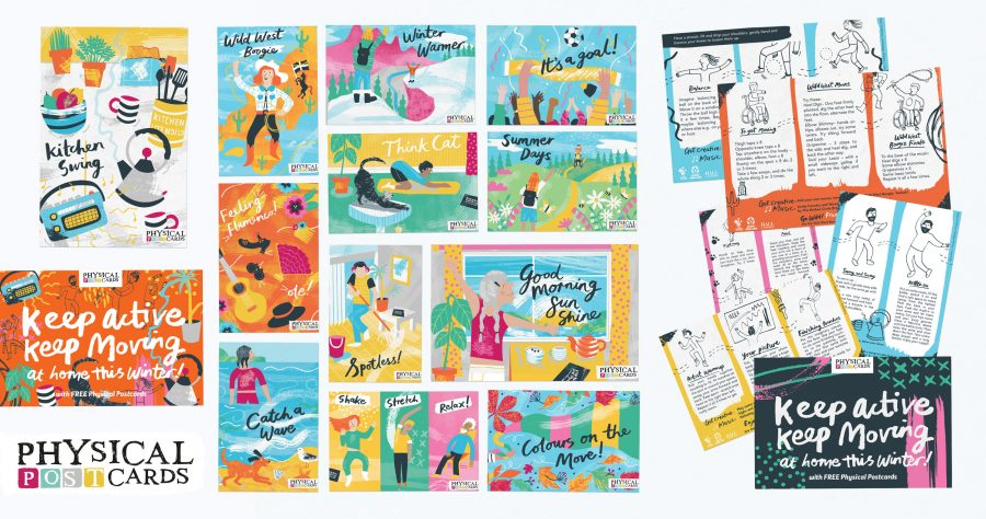 Illustrated Postcards Dance Centred Melanie Chadwick