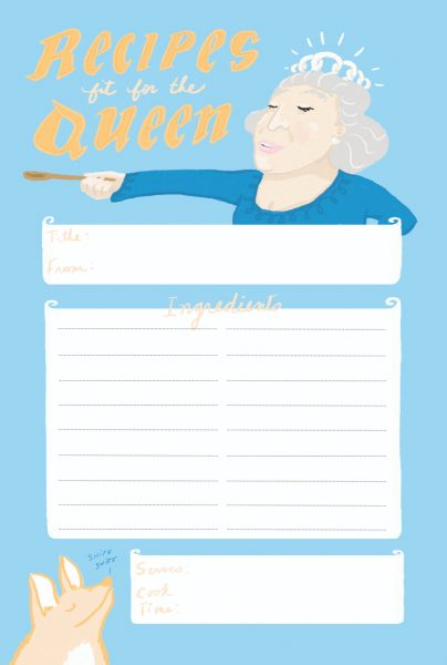 Queen Recipe Card Front