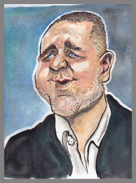 Caricature Painting of Russell Crowe
