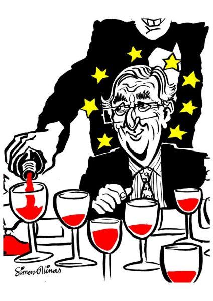 Topical Cartoon about jean Claude Juncker