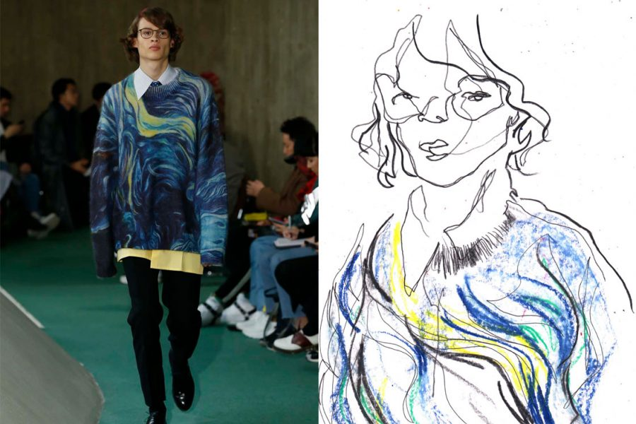 Esquire Singapore Paris Mens Fashion Week Live illustration for AW19 round up