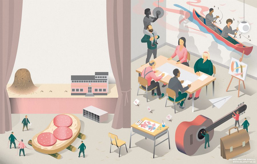The Swedish Teacher's Union - illustration for article about cooperation at school