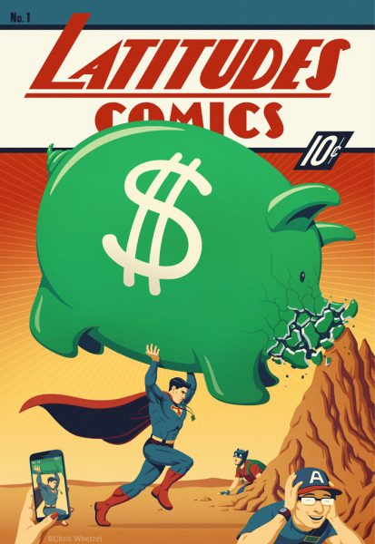 Superhero Comic-con Piggy Bank
