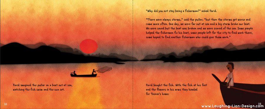 Farid's Rickshaw Ride Children's Book illustrated by Jennifer Farley