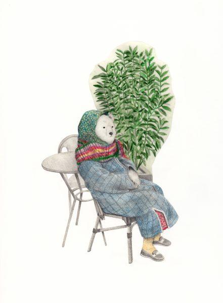 an elderly woman in paris