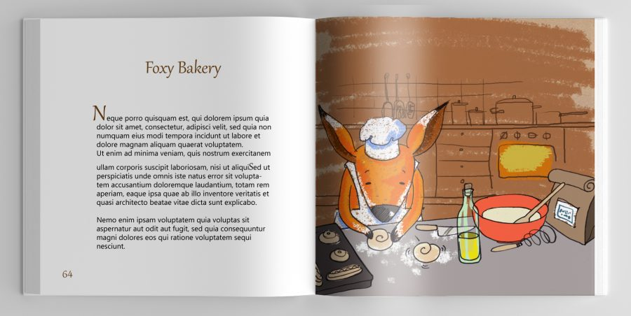 Orange tales fox one page copy