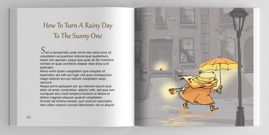 Orange tales frog one page copy