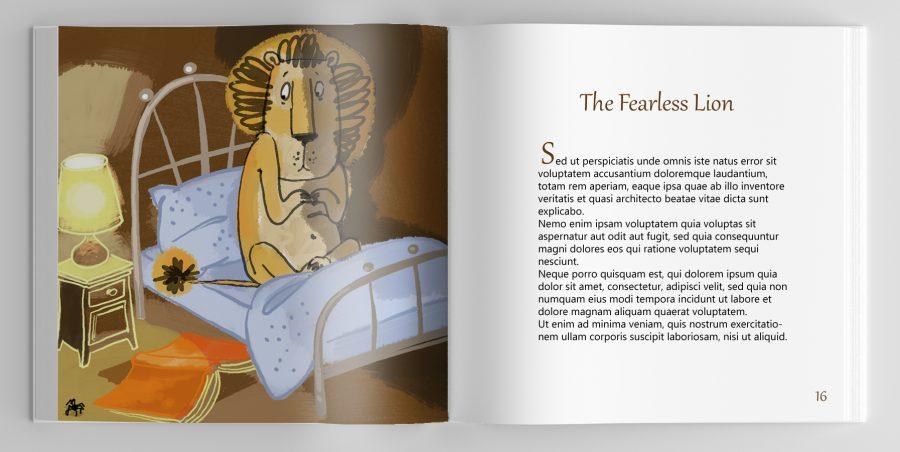 Orange tales lion one page copy