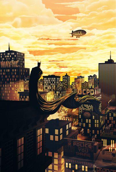 Batman at Sunset - Bottleneck Gallery