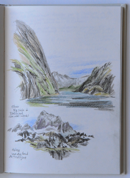 Travel sketch in Lofoten islands, Norway