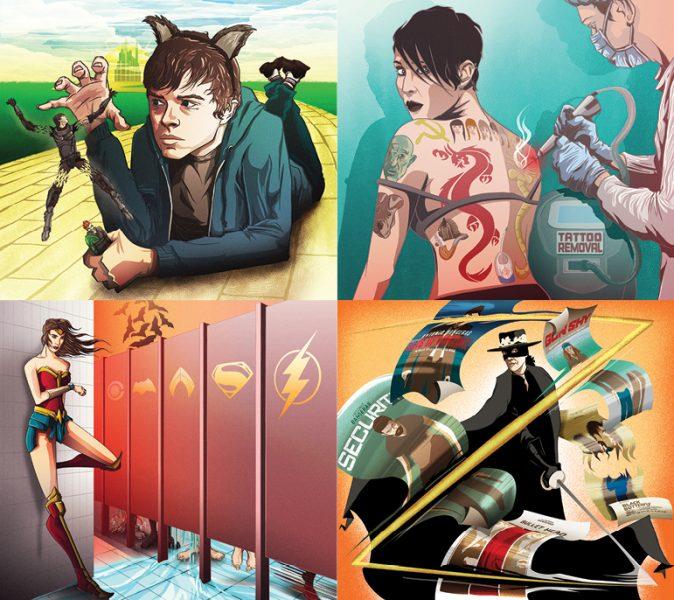 Editorial Illustrations - Total Film